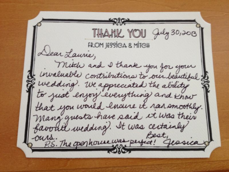 Personal Thank You Letters | Everyday Details - Nh Event Planner